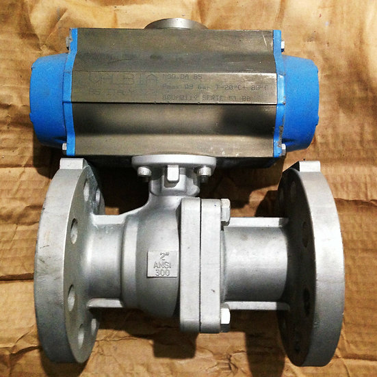 VALBIA MODEL DA85 2 INCH CLASS 300 ACTUATED VALVE