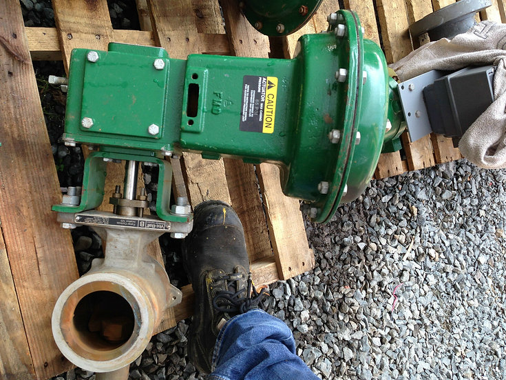 FISHER 3in V-200 CLASS 150 1051 ACTUATED V-BALL VALVE