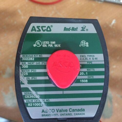 ASCO RED HAT II 8210-G027 SELENOID VALVE 1''