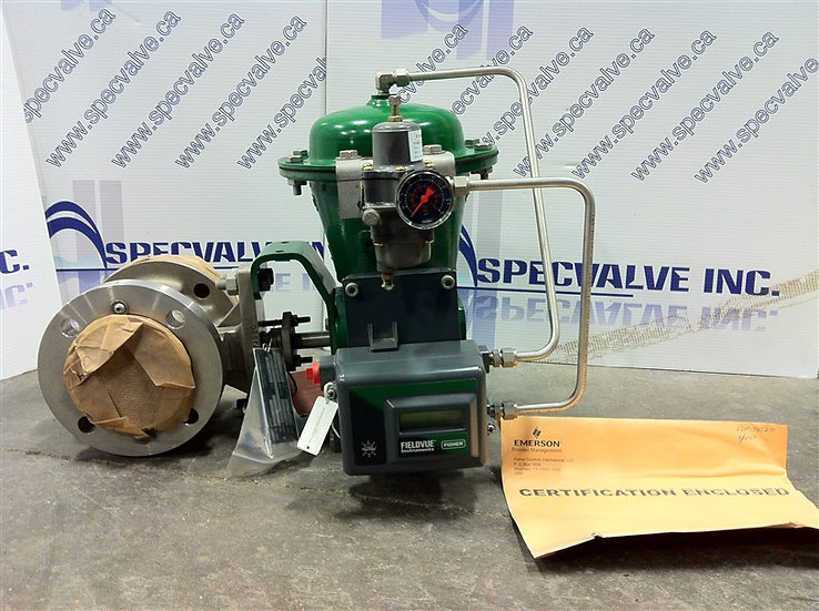 NEW Fisher 3in V150 ser.B V-Ball Valve