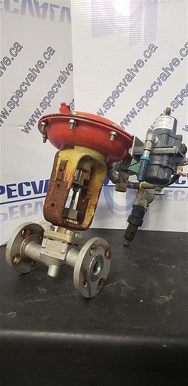 FISHER BAUMANN 1in CL150 32-24 577SF Globe Valve w/Pressure regulator & solenoid