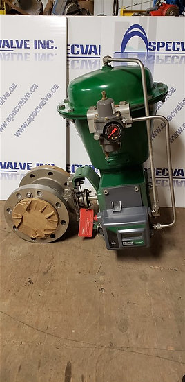 Fisher 4in V150 SER. B 2052 Actuated Valve w/dvc 2000 positioner