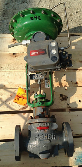 FISHER TYPE ED 2 INCH CLASS 300 657 ACTUATED GLOBE VALVE
