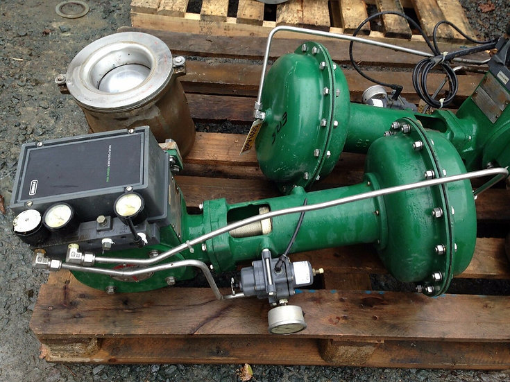 FISHER 6in  V200 CLASS 150 1052 ACTUATED V-BALL VALVE