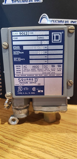 Square D 9012 GAW-4 Series B pressure switch
