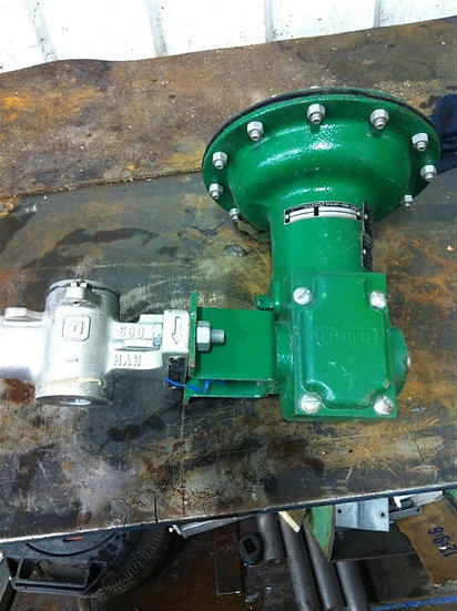 Fisher 1in V200 CL150-600 Actuated V-Ball Valve