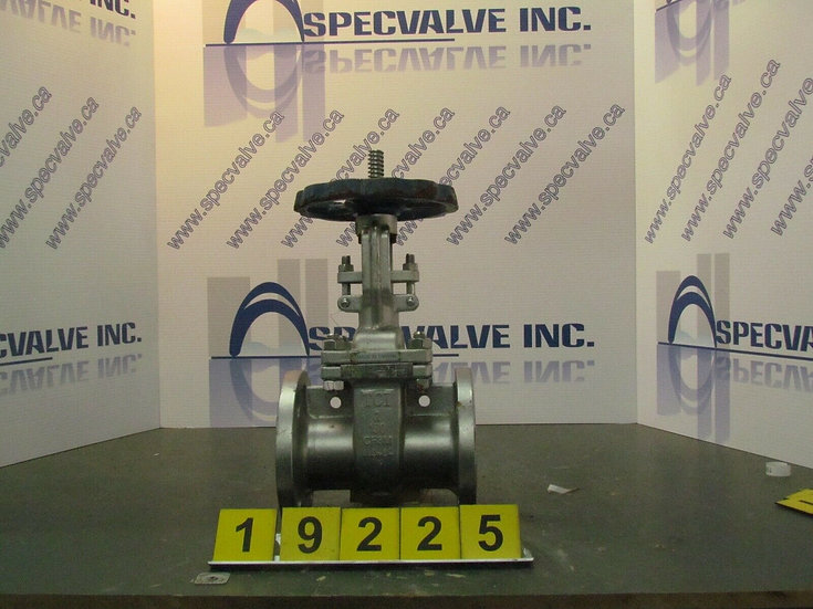 TCI 2in GATE VALVE CF8M BODY MANUALLY ACTUATED