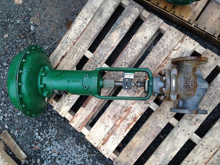 FISHER 2.5in TYPE ET CLASS 150 667 ACTUATED GLOBE VALVE