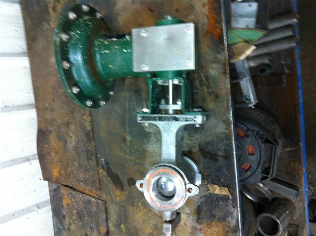 Fisher 2in CL150-600 V100 Actuated V-Ball Valve