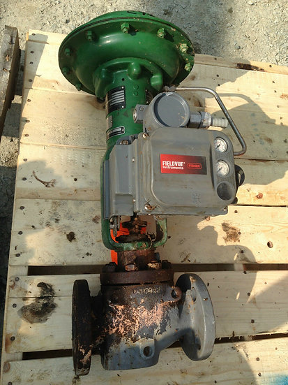 FISHER 1.5in TYPE ET CLASS 300 667 ACTUATED GLOBE VALVE