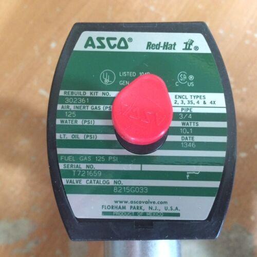 ASCO RED HAT II 8215-G033 SELENOID VALVE 3/4''