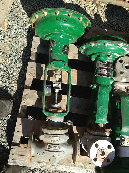 FISHER TYPE ED 2 INCH CLASS 150RF 657 ACTUATED GLOBE VALVE