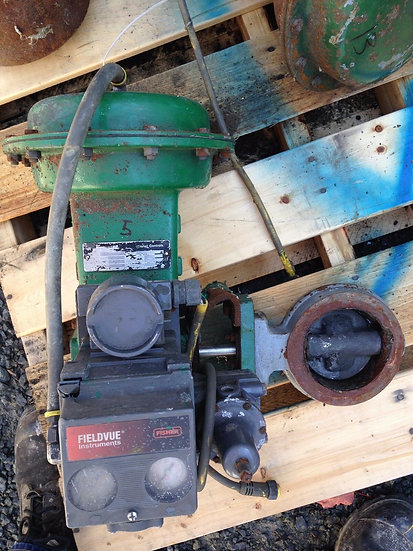 FISHER 4 INCH BUTTERFLY CLASS 150 STEEL BODY 1052 ACTUATED VALVE