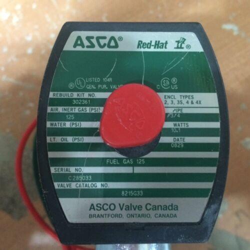 ASCO RED HAT II 8215-G33 SELENOID VALVE 3/4''
