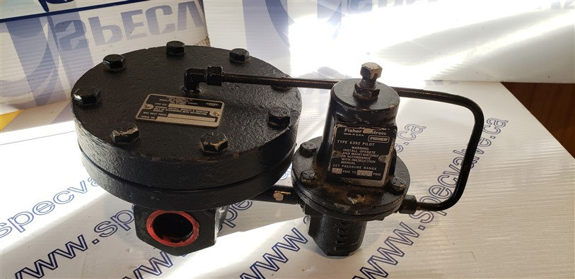 FISHER 92C-5 SELF POWERED CONTROL VALVE 92C-5 W/ TYPE 6392 REGULATOR PILOT 1''