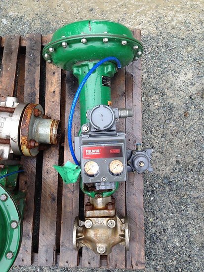 FISHER 1in TYPE EZ CLASS 150 DVC5000 667 ACTUATED GLOBE VALVE