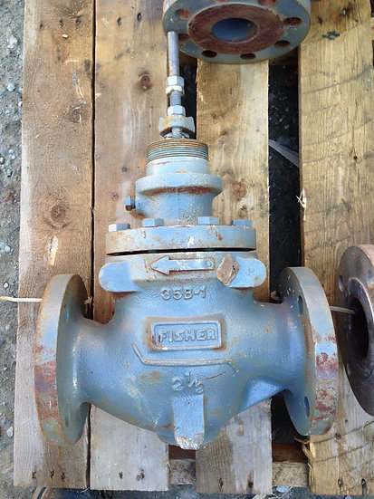FISHER 2.5 INCH CLASS 125 CAST IRON E TYPE GLOBE VALVE BODY