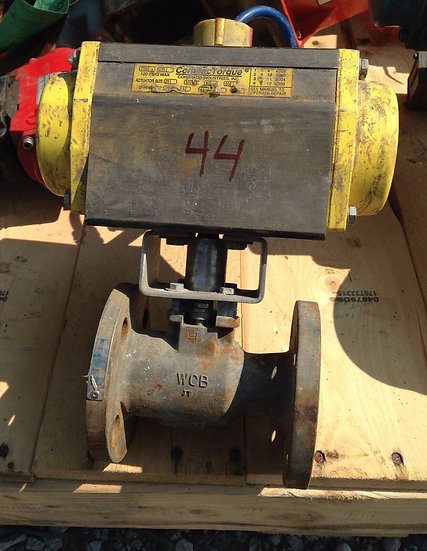 JAMESBURY 1 INCH 7150 CLASS 150 SS COUMPOUND TORQUE ACTUATED BALL VALVE