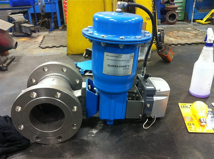 Neles-Jamesbury 4in v150 CG8M Actuated V-Ball Valve W/Positioner