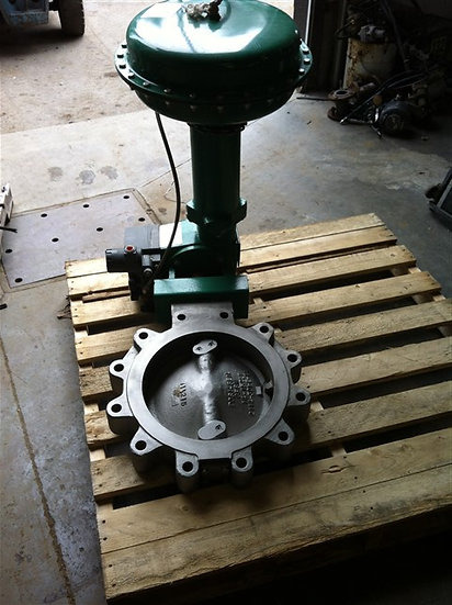 Fisher 14in type A11 Actuated Butterfly Valve