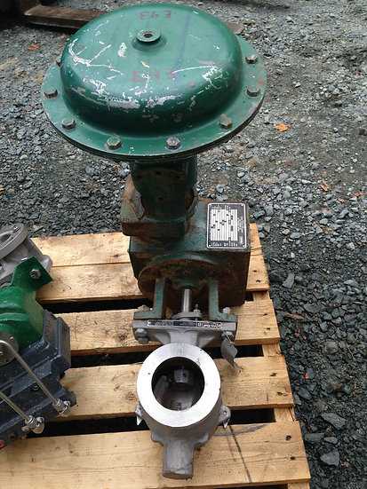 FISHER 3 INCH V200 CLASS 150 1052 ACTUATED VALVE