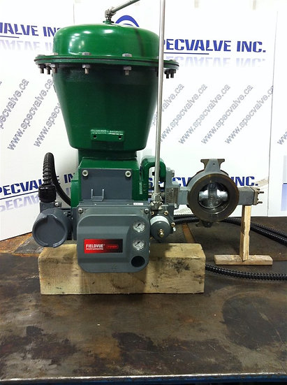 FISHER 3in type 8580 CL 150-300 SST Actuated Butterfly Valve