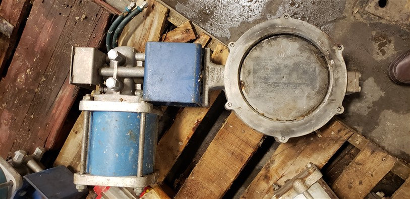 """NELES 10"""" cl150 Actuated Butterfly valve"""