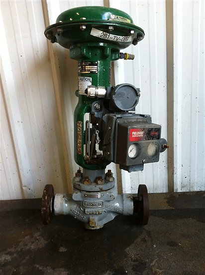 FISHER 1.5in wcc/wcb Actuated Globe Valve w/positionner