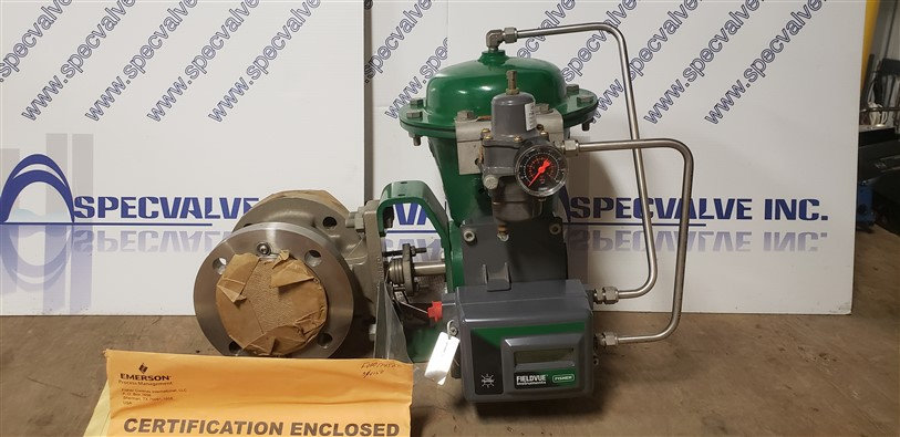 FISHER NEW 3IN V150 CL150 2052 ACTUATED W/DVC2000 POSITIONER