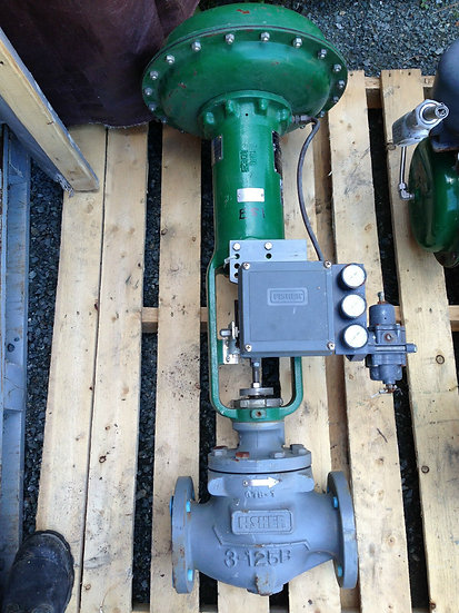 FISHER  3 INCH TYPE EZ CLASS 125 667 ACTUATED GLOBE VALVE NEW