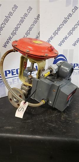 FISHER BAUMANN 1in CL150 32-24588SF Globe Valve w/Type 67CFR-362 & positioner