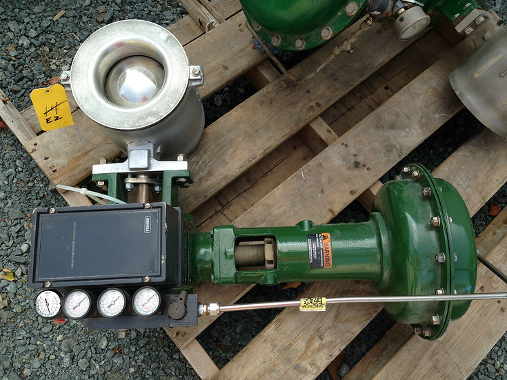 FISHER 6in CLASS 150-300 V-200 1052 ACTUATED VALVE