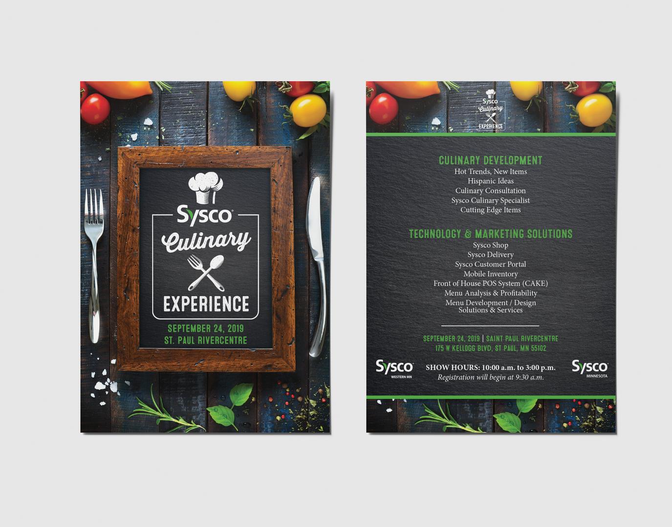 Sysco Culinary Invite Postcard