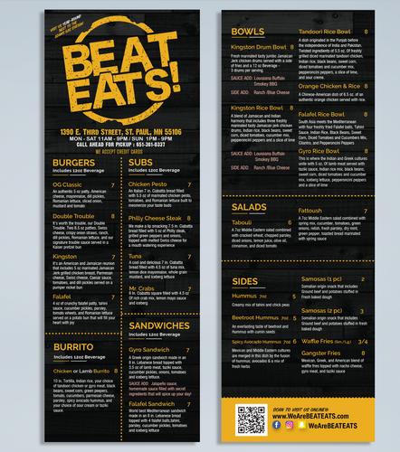 Beat Eats Menu