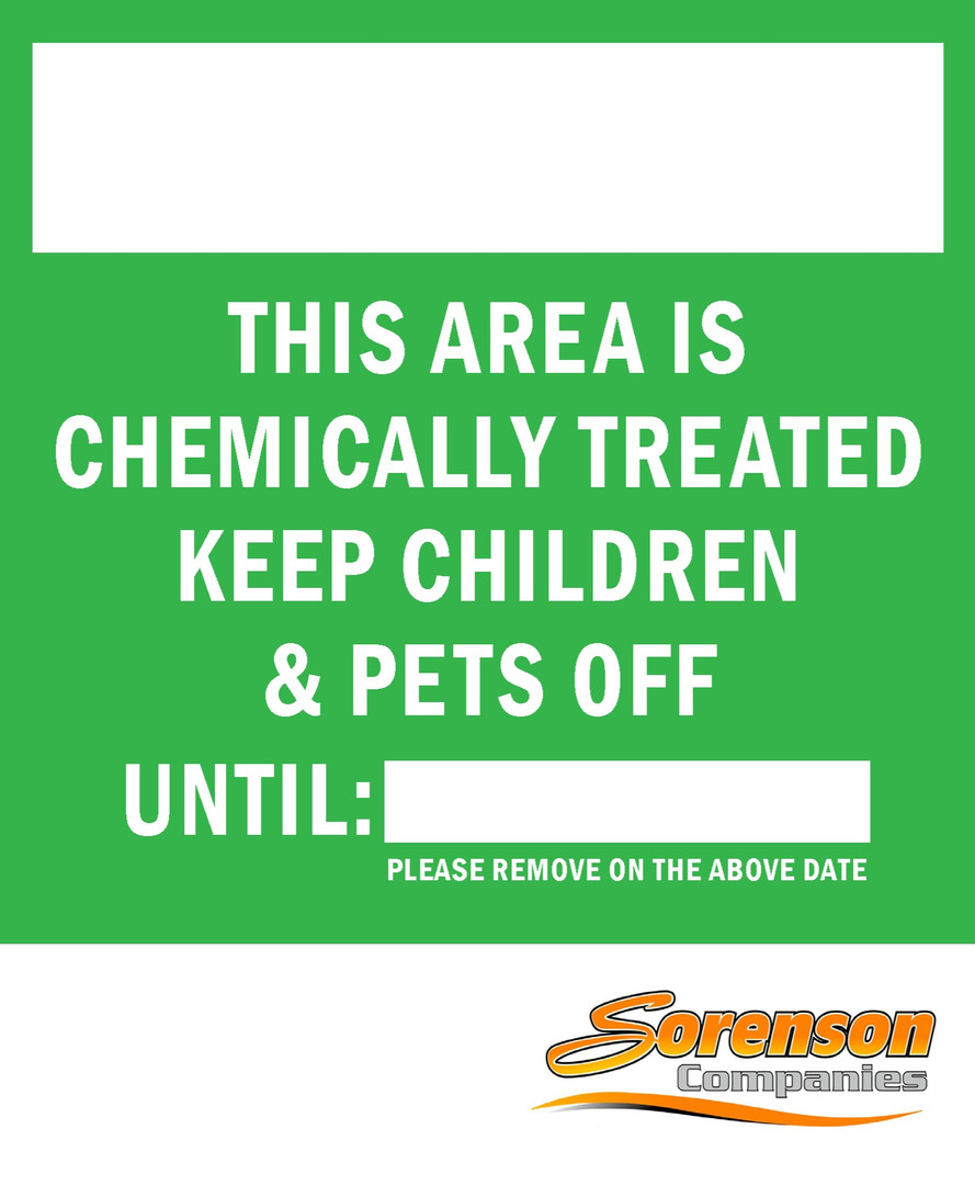 Sorenson Chemical Treatment Yardsign