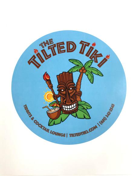 Tilted Tiki Sticker