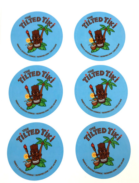 Tilted Tiki Stickers