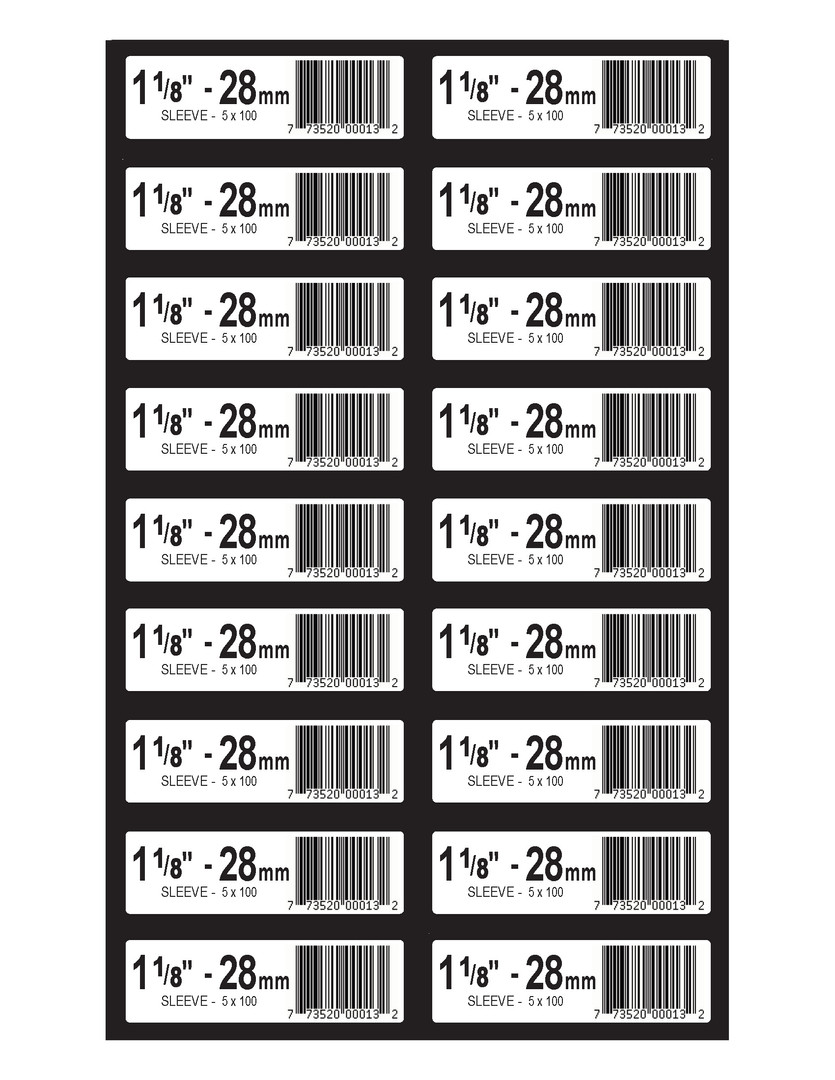 Norfast Box Labels