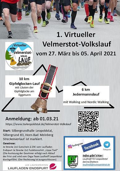 Flyer virtueller Volkslauf 2021 Logo far