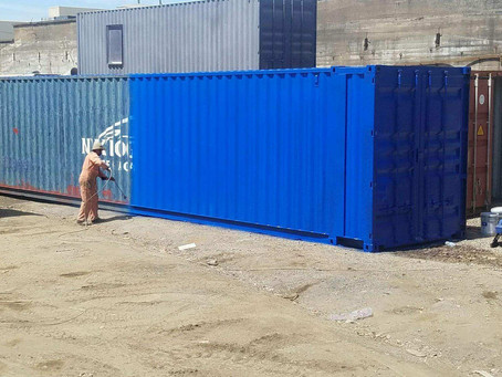 Meet Big Blue:  Shipping Container Make Over