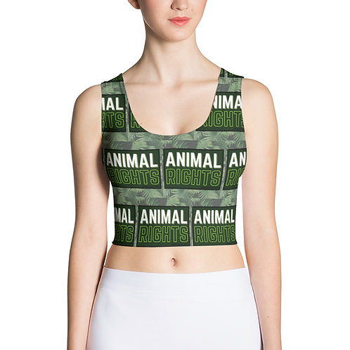 ANIMAL RIGHTS Repeat Crop Top