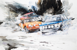 At full speed NO.19 32x49cm Painted with