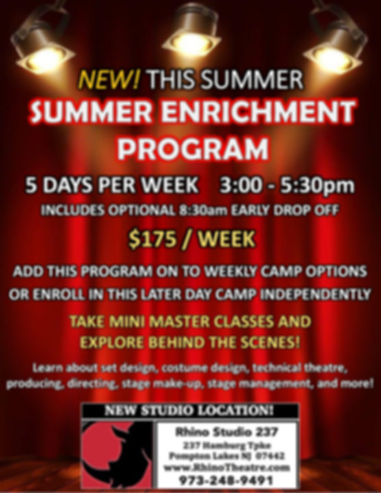 Afternoon Summer Camps NJ