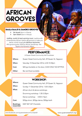 African Grooves - Saturday 10 December