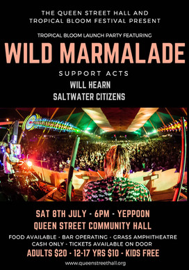 Wild Marmalade - this Saturday!!