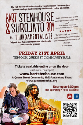 Bart Stenhouse & Surojato Roy - Indian classical & flamenco-jazz. 21 April 2017
