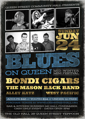 Blues on Queen - Sunday 24 June 2018, from 3PM