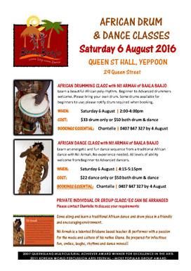 African Drum & Dance - Saturday 6 August