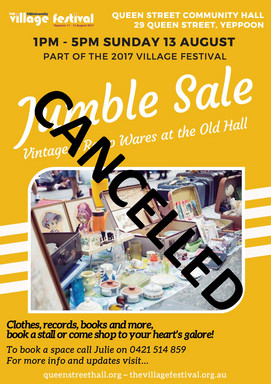 Jumble Sale 13 August 2017 - Book your spot today!