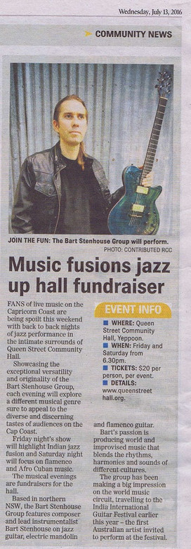 New Jazz at Old Hall - Bart Stenhouse Group, this weekend!!